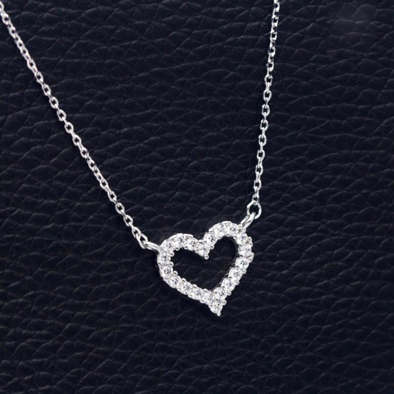 Женские серебряные ожерелья в виде сердца с звеньями