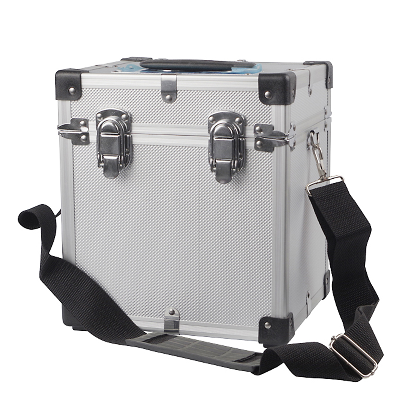 21x16x24cm Portable Toolbox Aluminum Box Household Multi-function Storage Box Hardware Instrument Model Protection Box