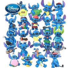 Disney 8 Pieces / lot Hawaiian Lilo And Stitch 5-7.5cm Mini Stitch Toy Figure Anime Action Figure Doll Home Party Decoration Toy