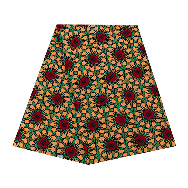 Brown Flwoer Prints African Ankara Wax Fabric High Quality Pure Polyester African Ankara Wax Fabric Material For Spring Summer