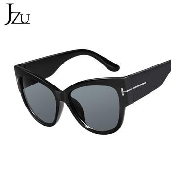 2019 New Brand Sunglasses Women Luxury Designer T Fashion Black Cat Eye oversized Sunglasses Female Gradient Sun Glasses oculos 6