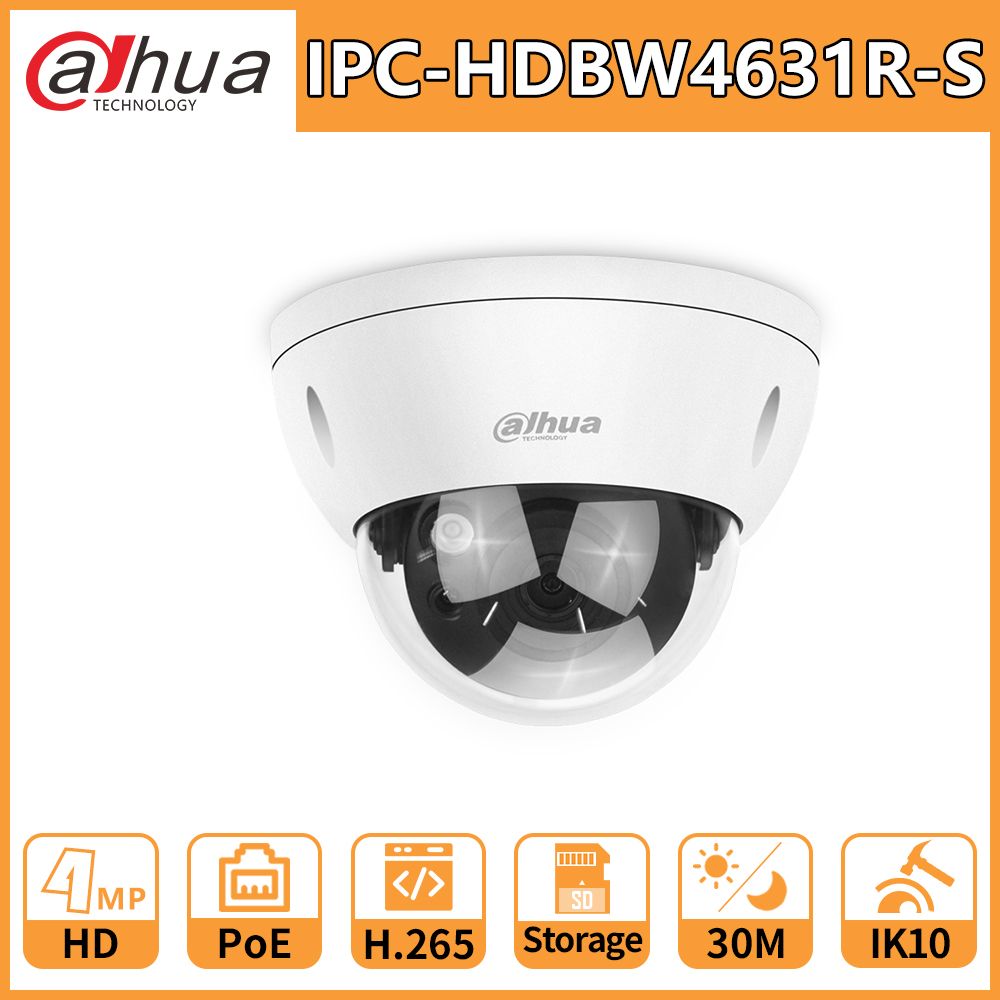 Dahua DH HD 6MP CCTV IP Camera IPC-HDBW4631R-S Mini Dome Network IK10 IP67 Waterproof PoE SD Card Slot Replace IPC-HDBW4433R-S