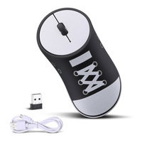 Fanshu Rechargeable Wireless Canvas Shoes 2.4G Vertical PC Mouse Overwatch Gaming USB Ergonomic Mause for Xiaomi Huawei Laptop