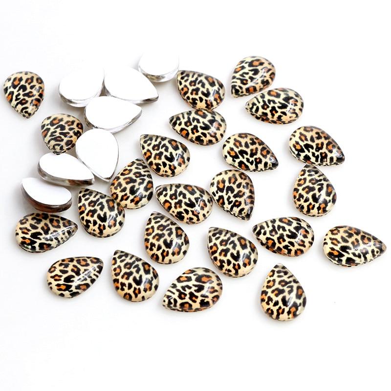 10x14mm 13x18mm 18x25mm Drop Leopard Print New Fashion Handmade Photo Glass Cabochons Pattern Domed Jewelry Accessories Supplies