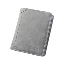 Wallet Antitheft Artificial Leather Wallet Buckle Leisure Men #8217 s Slim Leather Mini Wallet Case Credit Card Trifold Purse #LR4 cheap ISHOWTIENDA Long 73 5g Polyester 0cmcm Pu leather Letter vintage Coin Pocket Card Holder 2 5cm 11 8cmcm Hasp Standard Wallets