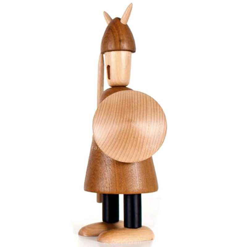 Nordic оригинальный резьба по дереву Викинги украшения для дома однотонные украшения из дерева интерьер украшения, Оригинальные подарки Sm