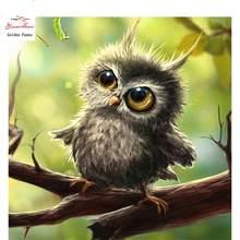 Pintura diamante 5d coruja animal ponto cruz strass bordado venda costura presente decoração de casa