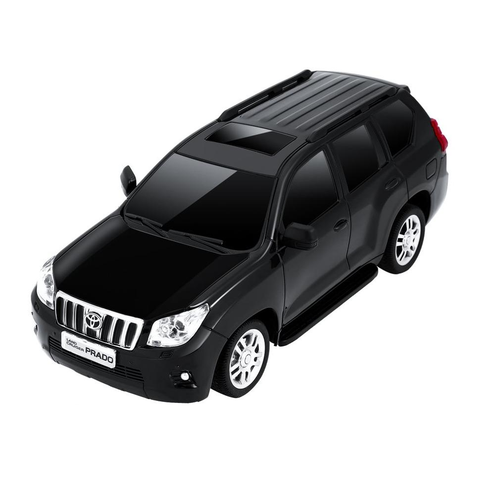2019 NEW 1:24 Scale LED Lights Radio Control Car Land Cruiser Model Car Toys For Toyota Prado RC Car Model Toys Shock Absorber