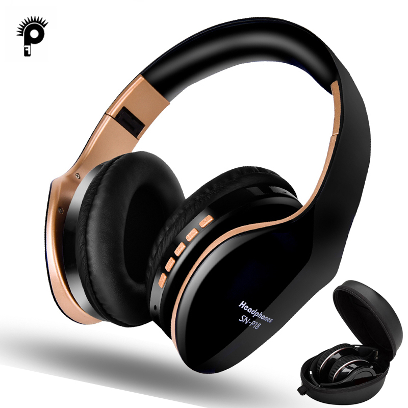 PunnkFunnk Wireless Headphones Bluetooth Earphone 5 0 Foldablel 3D Bass Stereo Noise Reduction Gaming Headset Mic  For Mobile PC