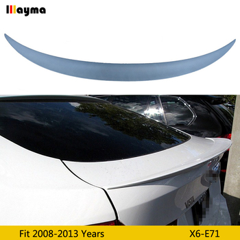 Performance style Fiber glass Primer Color rear trunk spoiler For BMW X6 xDrive 35i 50i 2008-2013 year E71 FRP car spoiler Wing image