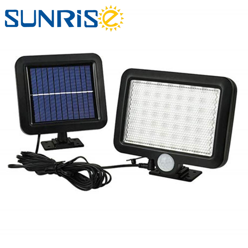 56 LED Pathway Solar Power Light PIR Motion Sensor Outdoor Wall Lamp Waterproof Energy Saving Outdoor IP65 Gate Security Lights