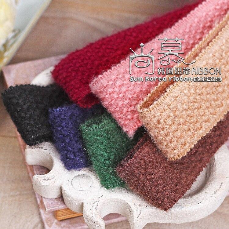 100yards 38mm 70mm vague agitant ruban à tricoter pour cheveux arc pince à cheveux bande de cheveux bricolage artisanat fournitures