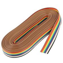 цена на WINOMO 5M 10 Pin Rainbow Color Flat Ribbon IDC Wire Cable Make Insertion Easier Provide Strain Relief For Digital Supplies