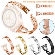 Wanita Fashion Watch Penggantian Kristal Logam Watch Tali Pergelangan Tangan Band untuk Samsung Galaxy Watch (42 Mm) Gelang Aksesoris(China)