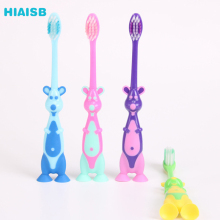 3-12 Years Old Kids Toothbrsuh Cartoon Rabbit Tooth Brush With Suction Cup  Portable Lovely Toothbrush