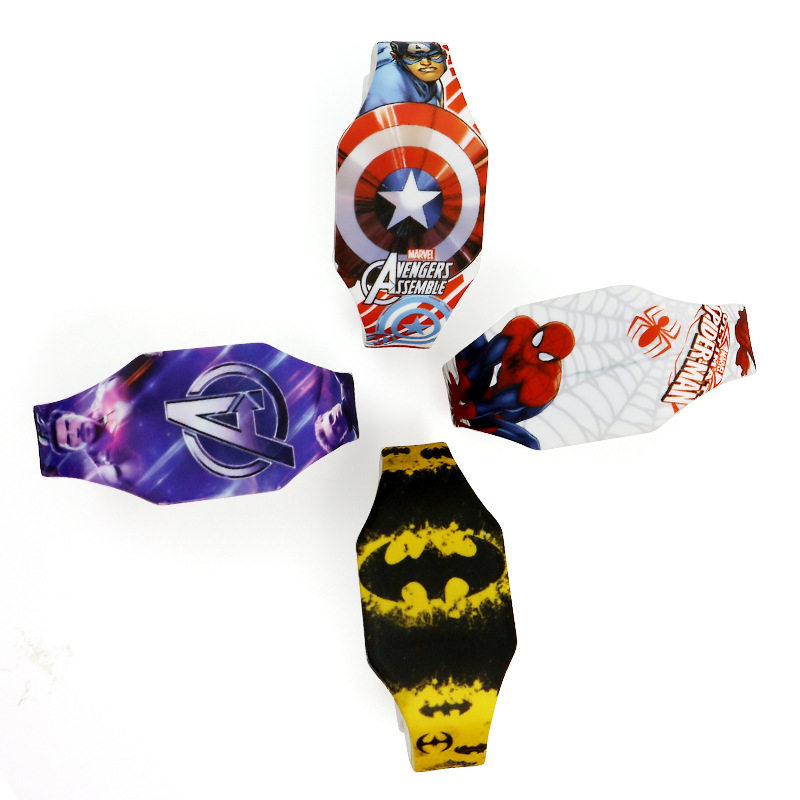 Disney Marvel Digital Watch Captain America Spider-Man Cartoon Boy Watch LED Student Electronic Watch Kids Watches Digital