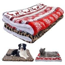 Ультра флисовый матрас для собачьей лежанки, теплый зимний домик для щенка, домик, питомник, маленькие средние и большие лежанки для собак, рождественское спальное одеяло для чихуахуа