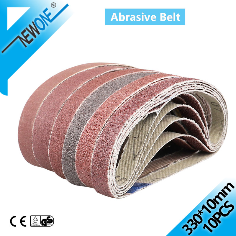 Abrasive Sanding Belts 330*10mm Belt Sander Belt Sander Attachment Grinder Polisher Power Tool Accessory