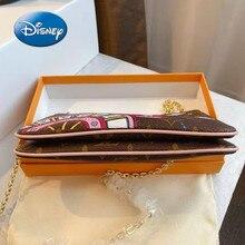 Disney Mickey cartoon woman shoulder messenger bag high quality large capacity handbag shopping bag cosmetic luxury female bag