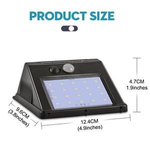 Image 5 - 3 Mode 20/30/48 Led Solar Lamp with Motion Sensor Waterproof Outdoor Wall Lamp Night Light for Garden Street Fench Lighting
