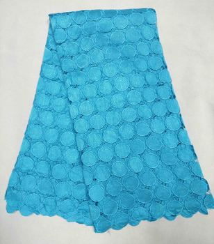 new arrival african lace fabrics high quality multi color cord lace guipure lace fabric for party dress M10405 free by DHL