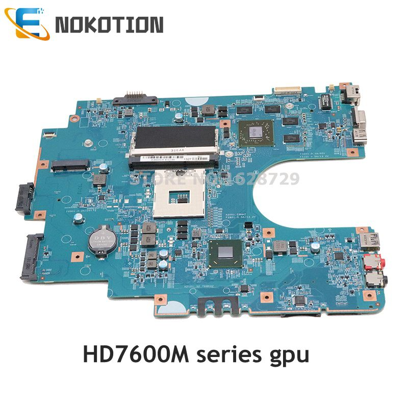 Board para Sony Nokotion Sve1711 Laptop Motherboard Principal Sve17 Hm76 Ddr3 Hd7600m Gpu A1892051a A1892044a 48.4mr10.021 Mbx-267