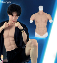 Hunk Chest Muscle Man Silicone Fake Chest Muscle Pecloralis Muscle 2500g Bodysuit Men Shaper Stronger Man