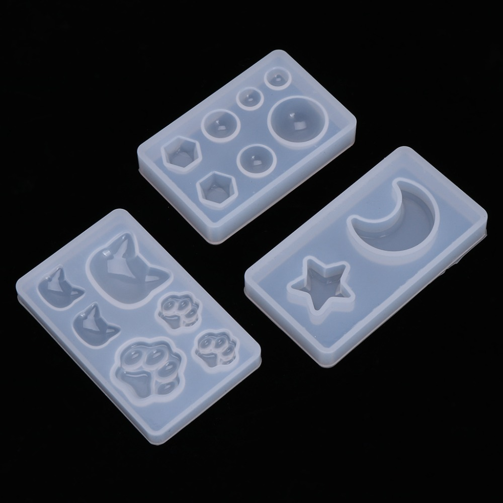 1pc Silicone Mold DIY Crafts Claw Moon Geometry Mirror  Mold For Jewelry Making Decorative