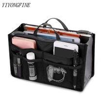 Tote Kosmetik Tasche Für Frauen Doppel-reißverschluss Make-Up Bag Pflege Pflege Kit Große Nylon Reise Einsatz Organizer Handtasche Geldbörse