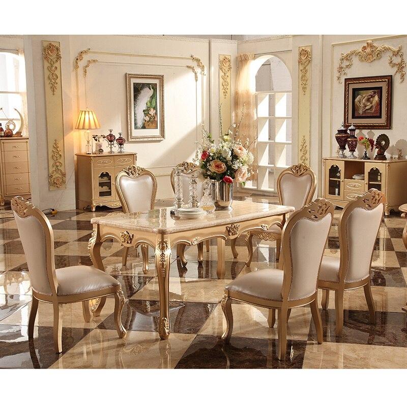 Table A Manger Italienne De Style Antique Baroque Pas Cher Ensemble De Table A Manger De Luxe En Bois Massif Italie Aliexpress