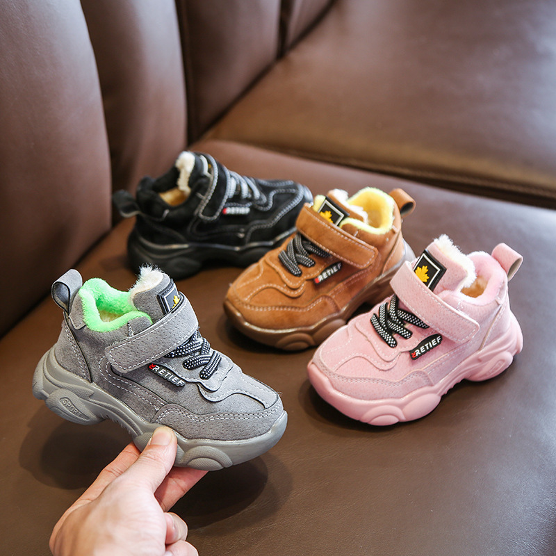 New winter Baby Girls Boys Cotton shoes Light Casual Shoes Infant Soft Bottom PU Sport Shoes Children Kids Outdoor Sneaker|Sneakers| |  - title=