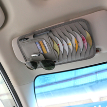 Car Sun Visor Leather Auto Car Sunshade Sun Visor CD Card Glasses Holder Organiz
