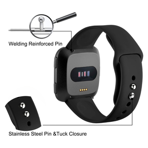 Image 3 - Smart Watch Strap For Fitbit Versa Band Silicone Replacement Quick Release Wristband Bracelet Band For Fitbit Versa 2