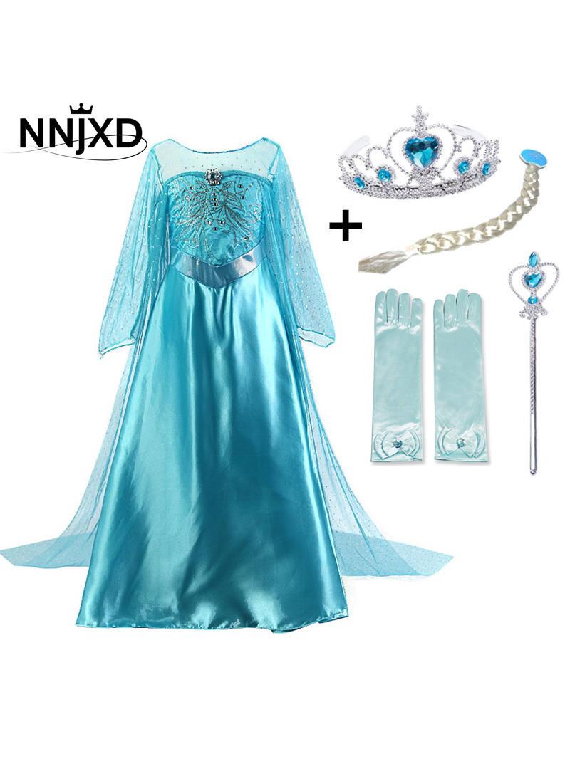 Princess-Dress Fantasy Long-Sleeve Birthday-Party Elegant Baby-Girls Summer 4-10T