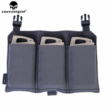 emersongear Emerson 5.56 Triple Mag Pouch Panel Hunting Tactical Military Airsoft Magazine Case for 419 420 Vest WG