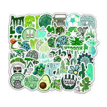 50Pcs/Small Fresh Sticker Green Eco-friendly Decoration Stickers for Luggage Laptop Refrigerator Motorcycle Skateboard Pegatinas