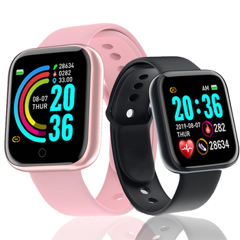 D20Pro Bluetooth Smart Watch Y68 Fitness Tracker Bracelet Pedometer Waterproof Smartwatch Heart Rate Blood Pressure Smart Band