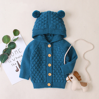 LZH 2020 Autumn Infant Hooded Knitting Jacket For Baby Clothes Newborn Coat For Baby Boys Girl Jacket Winter Kids Outerwear Coat 16
