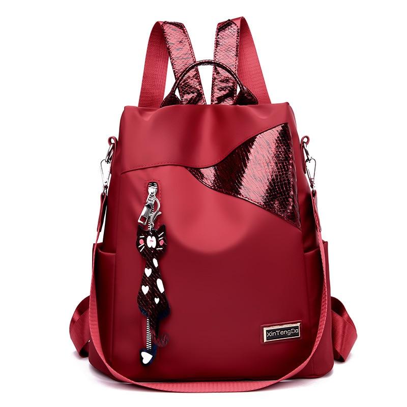 2020 Fashion Women Backpack High Quality PU Leather Backpacks For Teenage Girls Female School Shoulder Bag Bagpack Black Red