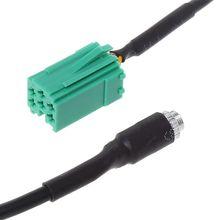 Aux аудио кабель адаптер мини ISO Женский Джек удлинитель для радио CD плеера