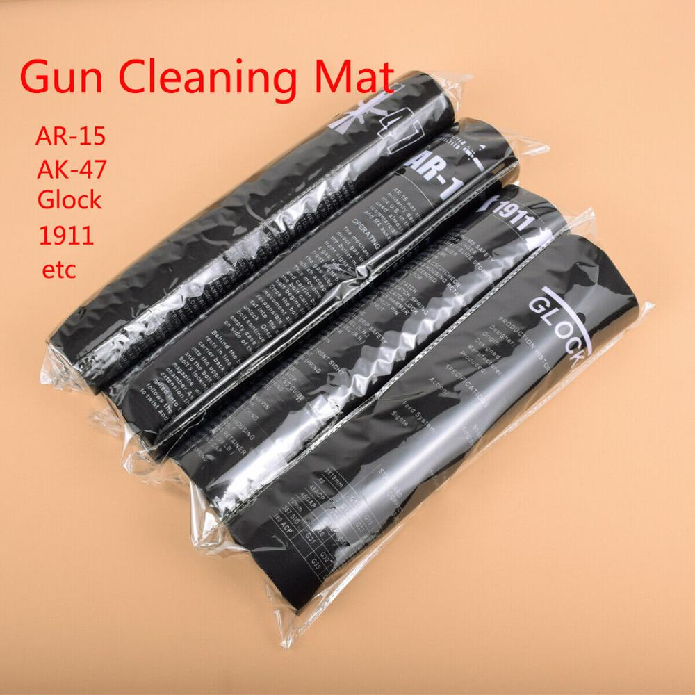 AR15 AK47 Glock Gun Cleaning Rubber Mat With Parts Diagram Instructions Mouse Pad For Smith Colt 1911 Beretta 92 Sig Sauer P320
