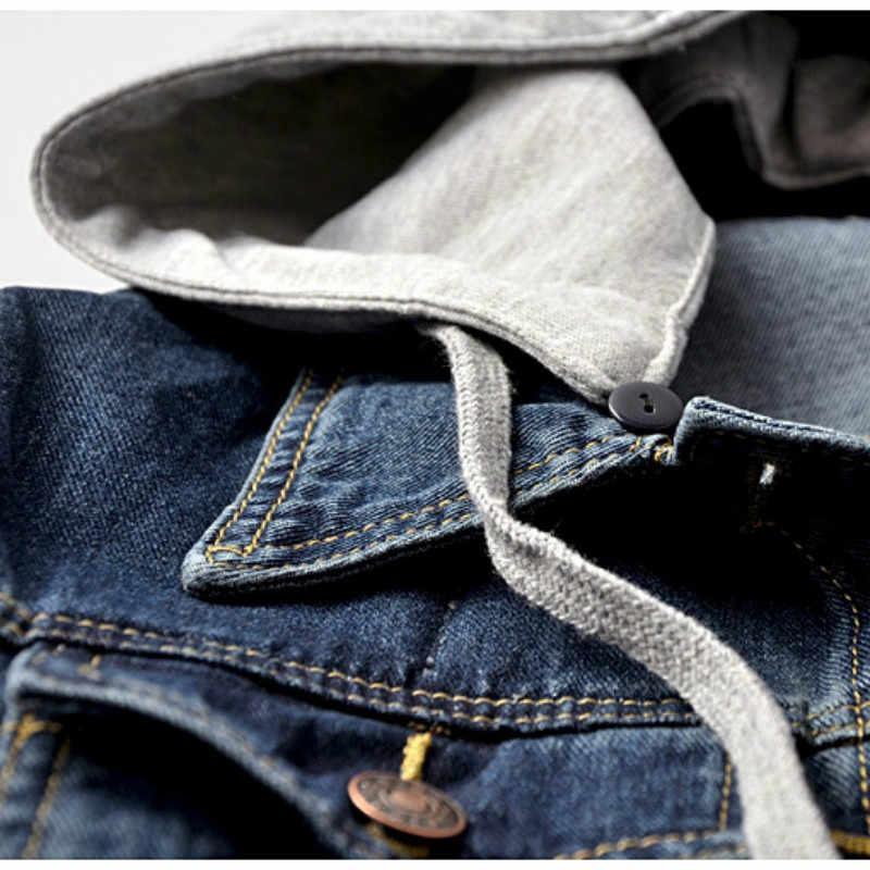 Vintage Denim Jacke Frauen Herbst Mantel Zerrissene Mit Kapuze Oberbekleidung Mäntel Windjacke Grundlegende Freund Weibliche Jeans Jacke Plus Größe