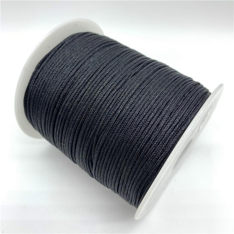 Cord-Rope Shamballa-Bracelet Jewelry-Making Macrame Nylon Chinese Knot Black
