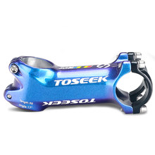Toseek haste colorida da liga de alumínio 31.8*60-110mm mtb/bicicleta estrada haste da bicicleta mtb dh bicicleta liga da haste montanha