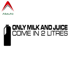 Aliauto Funny Car Sticker Only Milk and Juice Come In 2.0 Liters Accessories Personality Waterproof Decal Vinyl,15cm*5cm