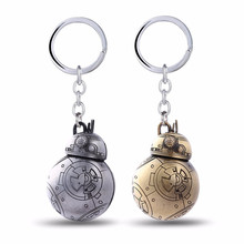 10pcs Movie Star Wars BB8 Key Chain The Force Awakens BB-8 R2D2 Droid Robot Keychain Action Figure Stormtrooper Metal Keyring cool eye led light storm trooper star wars the force awakens clone troopers stormtrooper joint movable pvc action figure toys