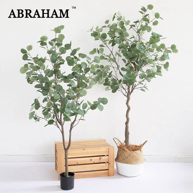 180cm Large Artificial Eucalyptus Tree Tropical Fake Plants Silk Leaves Green Indoor Bonsai For Living Room Office Wedding Decor Buy At The Price Of 149 99 In Aliexpress Com Imall Com