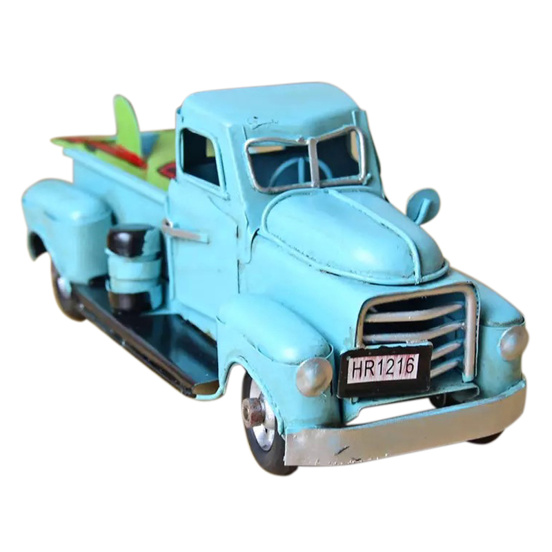 Vintage Metal Truck Christmas Ornament Kids Xmas Gifts Toy Table Top Decorations Child Toys