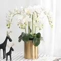 Реалистичный цветок из латекса, Орхидея, Бабочка, Орхидея, 9 головок