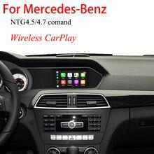 Wireless CarPlay Video Interface BOX For Mercedes Benz W176 W246 W204 W212 C117 X204 W166 W463 X166 NTG4.5 COMAND or Audio 20